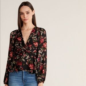 A.L.C. Logan Silk Floral Blouse- New with tags